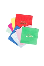 Meri Meri Birthday Cocktail Napkins - Front cropped