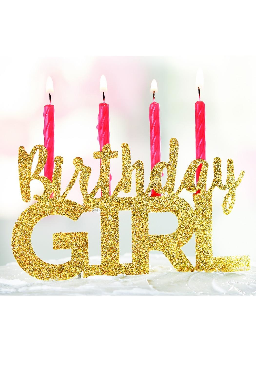 Mud Pie Birthday Girl Cake-Topper - Main Image