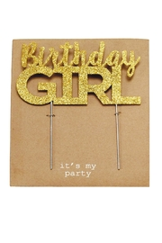 Mud Pie Birthday Girl Cake-Topper - Front full body