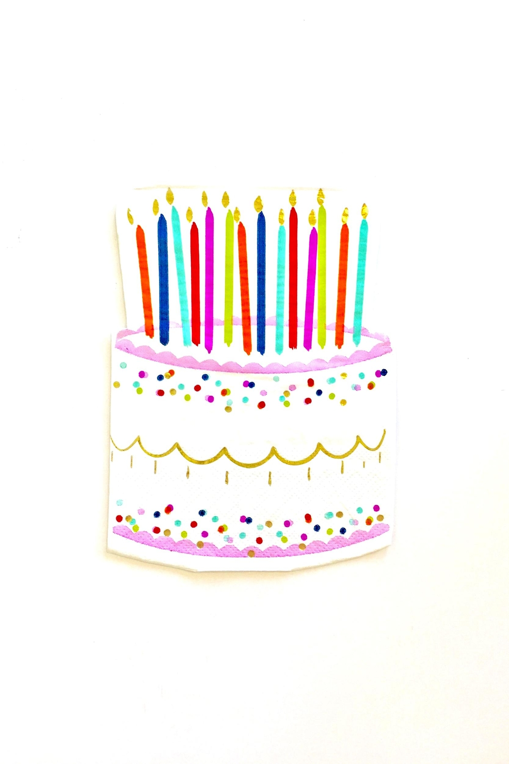 Slant Collections Birthday Paper Napkins - Main Image