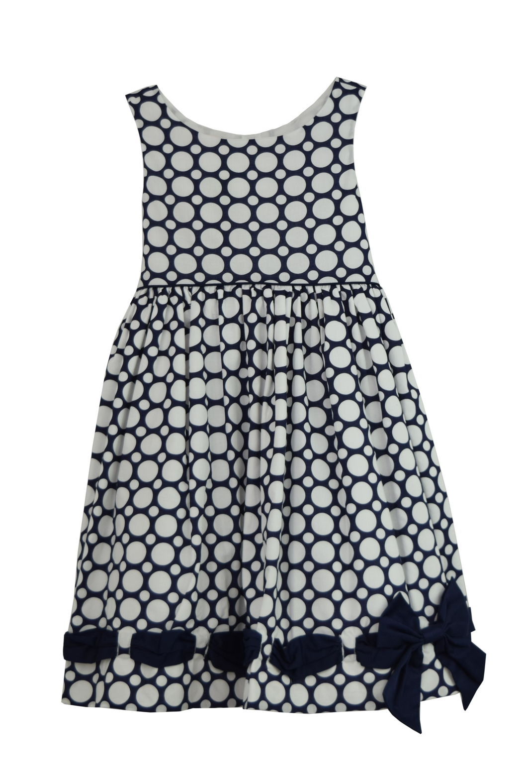 Biscotti Blue Polkadot Dress - Main Image