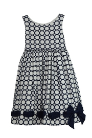 Biscotti Blue Polkadot Dress - Front cropped