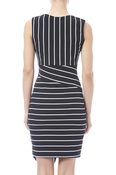 Biscuit Asymmetrical Striped Dress - Alternate List Image