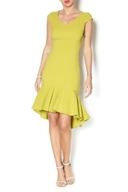 Biscuit Fitted High Low Dress - Product Mini Image