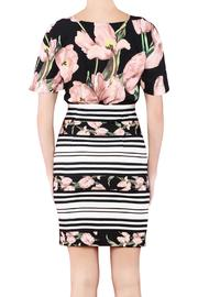 Biscuit Flower Print Dress - Front full body