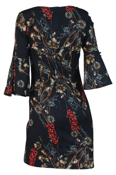 Biscuit Flower Printed Dress - Alternate List Image