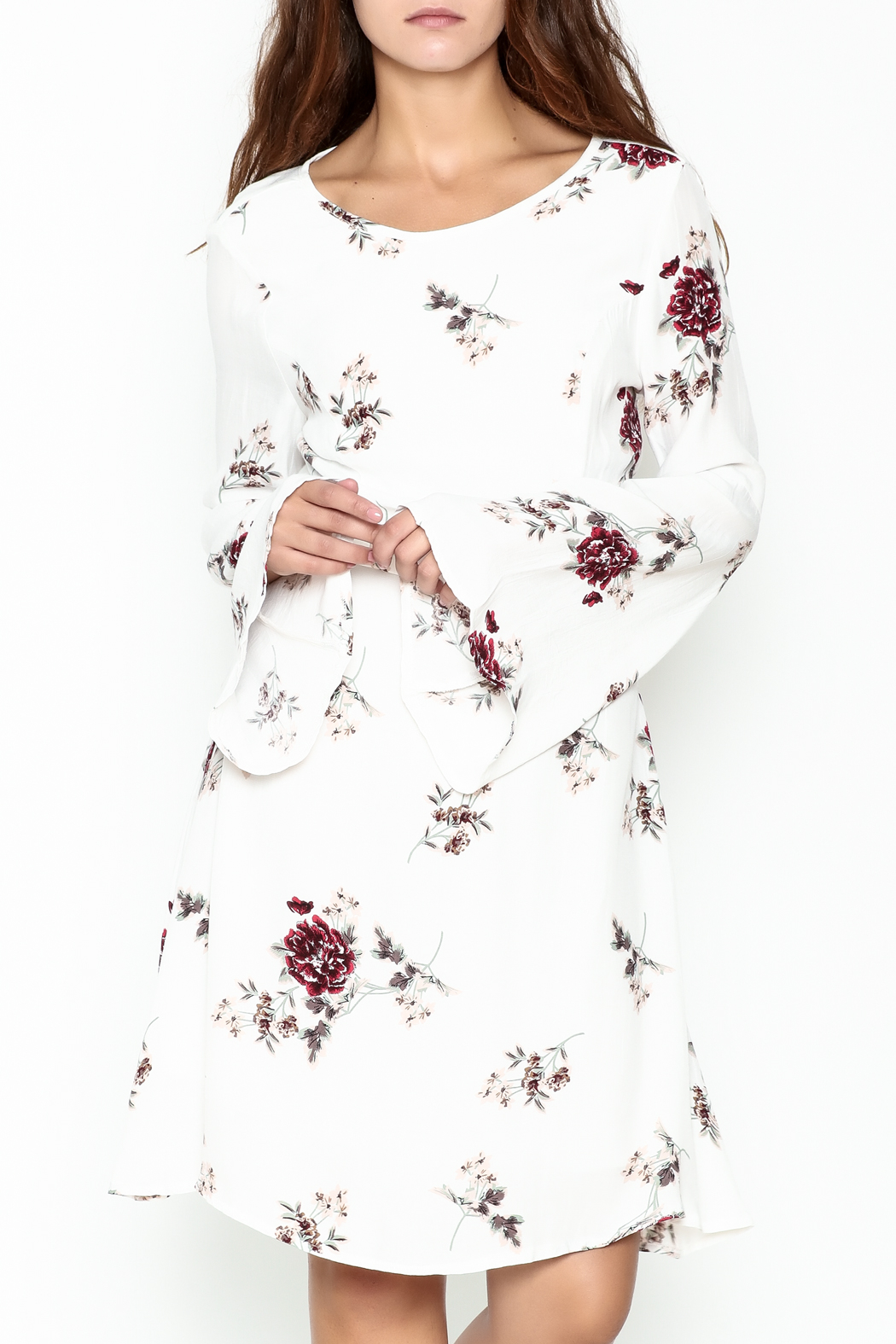 Biscuit Floral Dress - Main Image