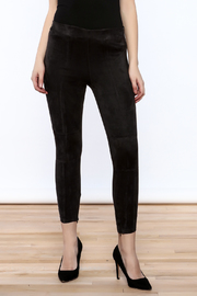 Bishop + Young Black Suede Leggings - Product Mini Image