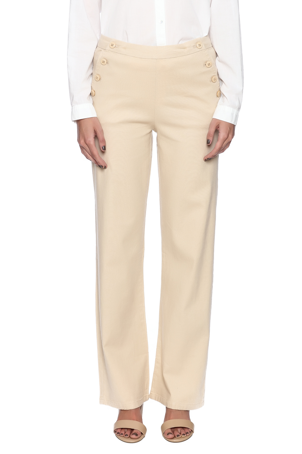 Bishop + Young Button Front Pants - Side Cropped Image