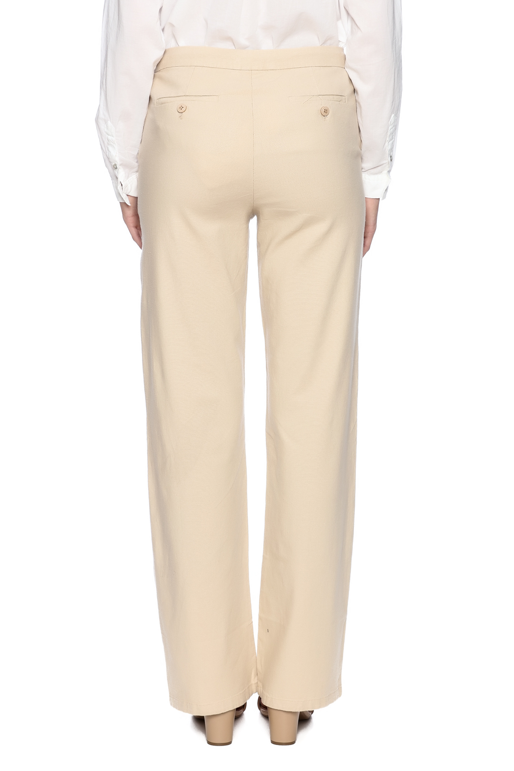 Bishop + Young Button Front Pants - Back Cropped Image