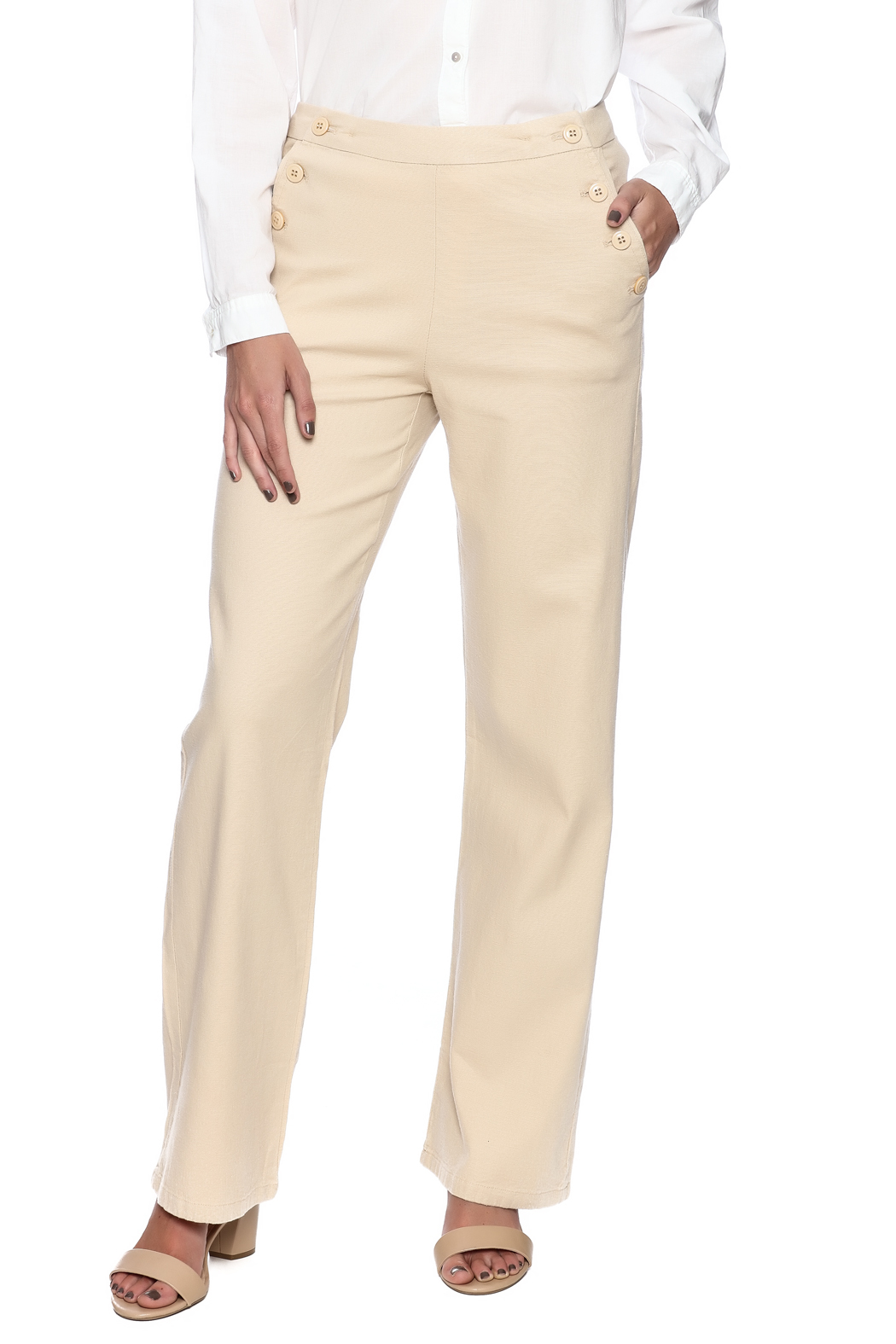 Bishop + Young Button Front Pants - Main Image