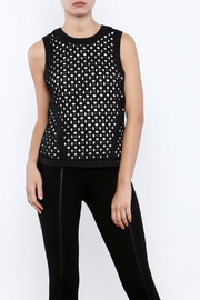 Bishop + Young Eyelet Contrast Top - Front cropped