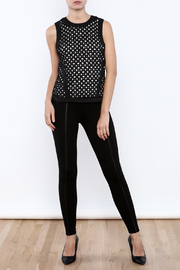 Bishop + Young Eyelet Contrast Top - Front full body