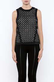 Bishop + Young Eyelet Contrast Top - Side cropped