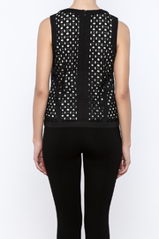 Bishop + Young Eyelet Contrast Top - Back cropped