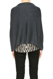 Bishop + Young Heather Grey Poncho - Back cropped