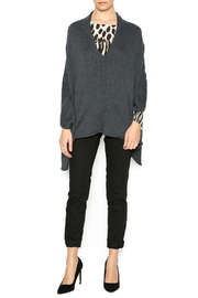 Bishop + Young Heather Grey Poncho - Front full body