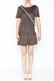 Bishop + Young Ivy Suede Shift Dress - Front full body