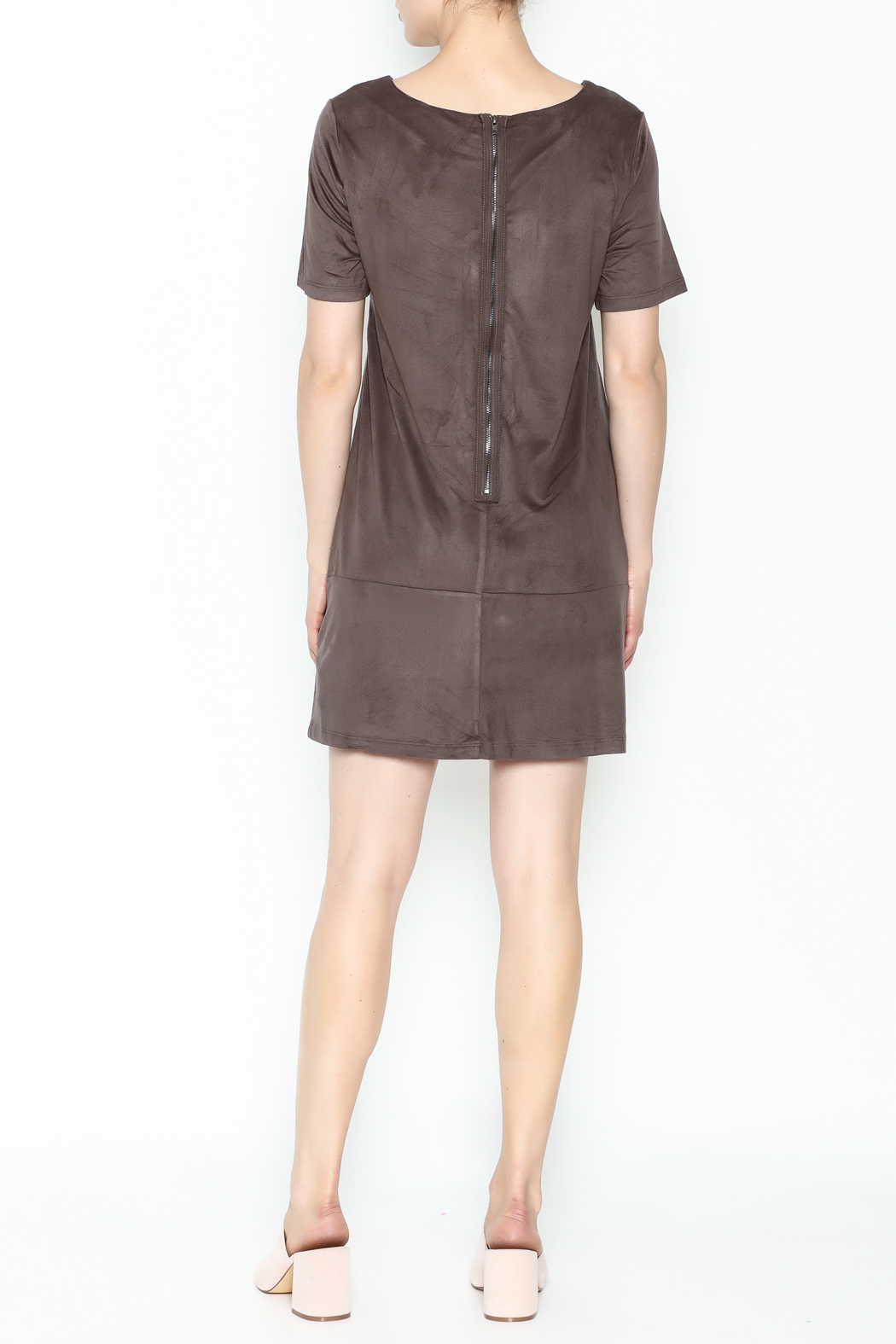 Bishop + Young Ivy Suede Shift Dress - Back Cropped Image