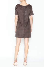 Bishop + Young Ivy Suede Shift Dress - Back cropped