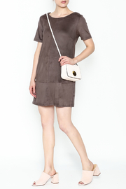 Bishop + Young Ivy Suede Shift Dress - Front cropped
