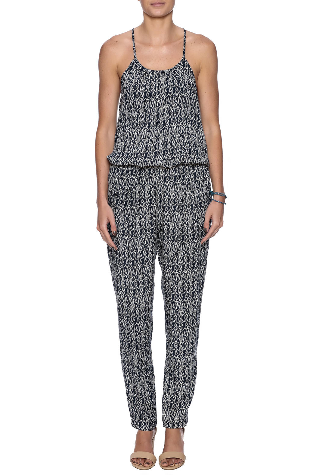 Bishop + Young Jane Printed Jumpsuit - Front Cropped Image