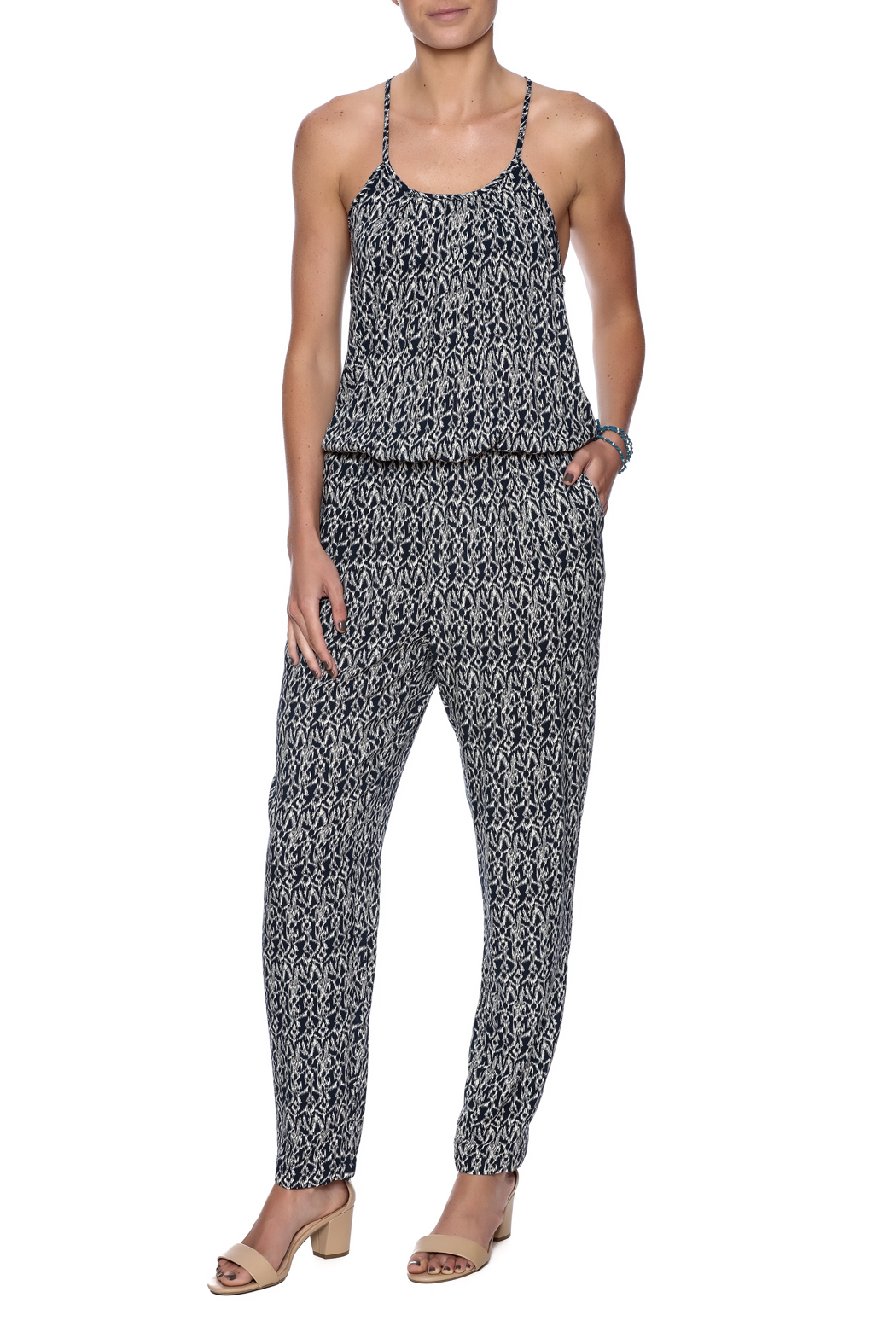 Bishop + Young Jane Printed Jumpsuit - Front Full Image