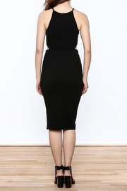 Bishop + Young Black Cut-Out Dress - Back cropped