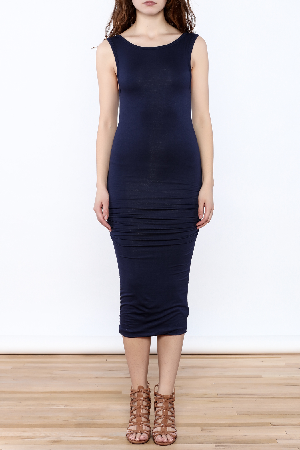 Bishop + Young Mia Midi Dress - Front Cropped Image