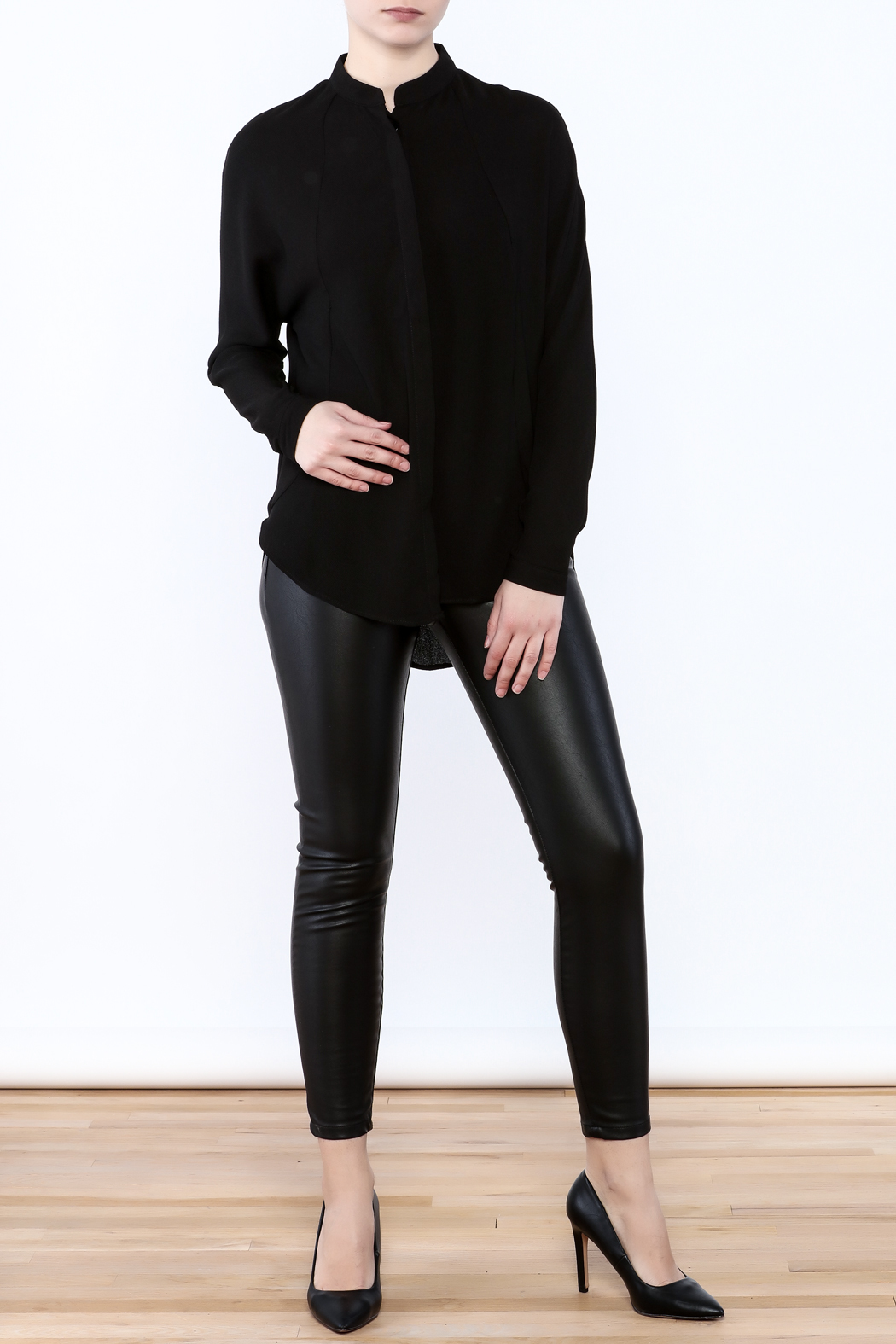 Bishop + Young Open Back Blouse - Front Full Image