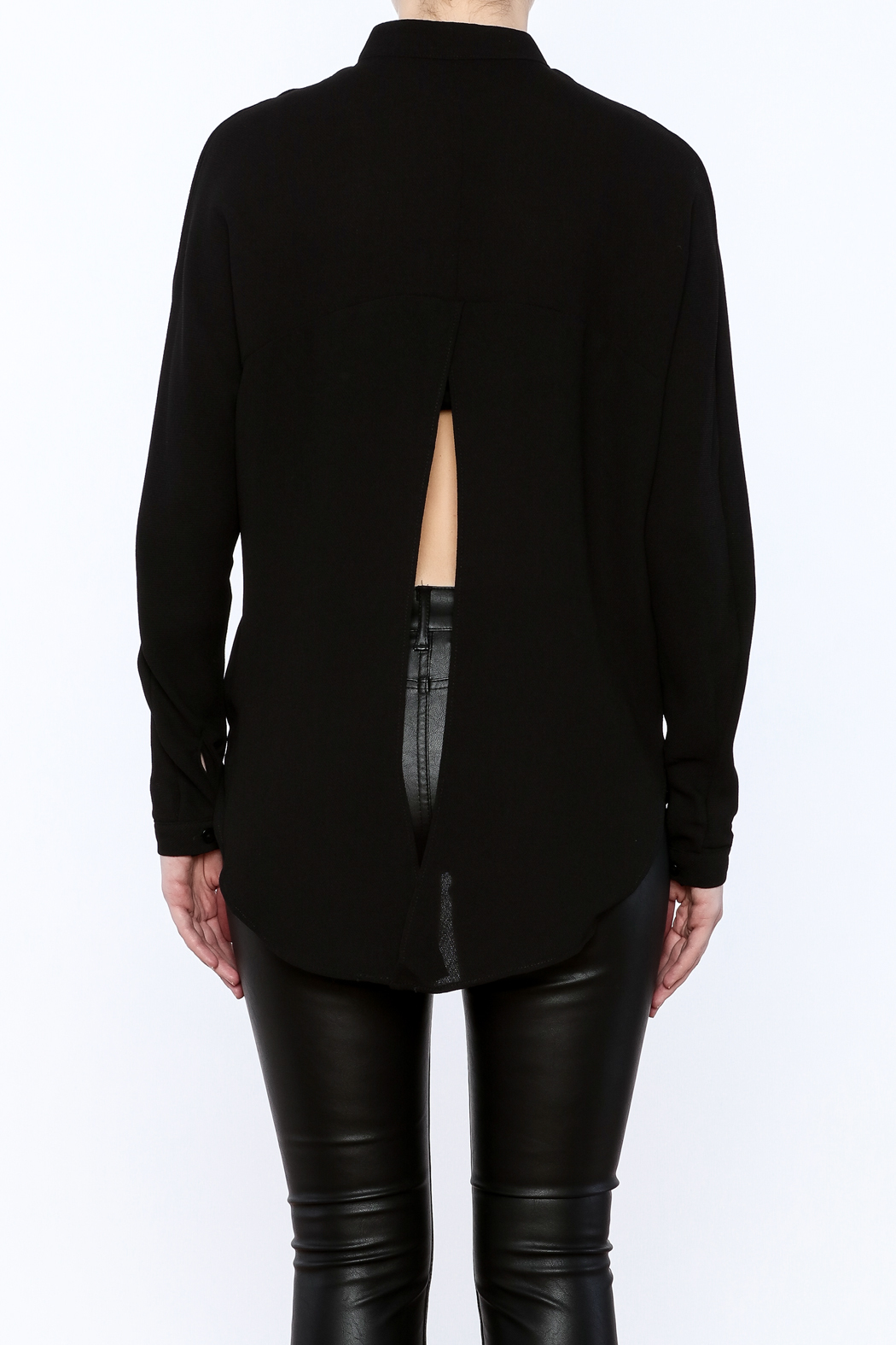 Bishop + Young Open Back Blouse - Back Cropped Image