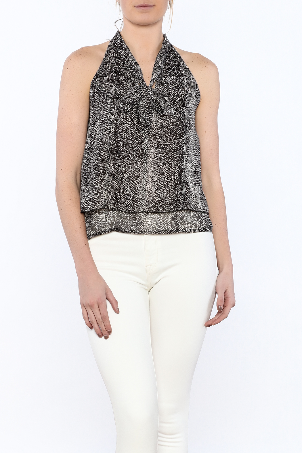 bece22d75694b4 Bishop + Young Snakeskin Sleeveless Blouse from New York by Luna ...