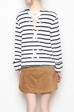 Shoptiques Product: Striped Laceback Top