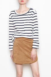 Bishop and Young Striped Laceback Top - Front cropped
