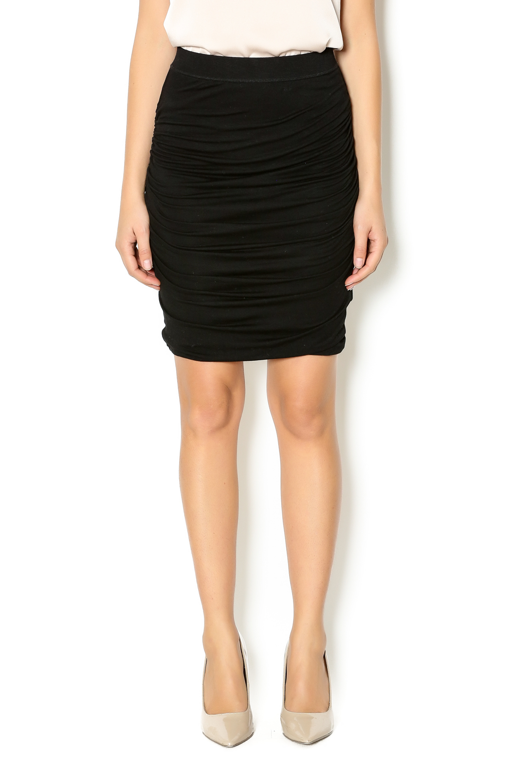 Bishop + Young Black Ruched Skirt - Main Image