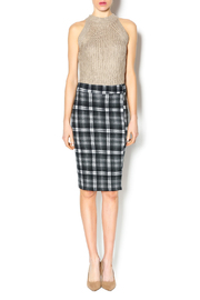 Bishop + Young Plaid Pencil Skirt - Front full body