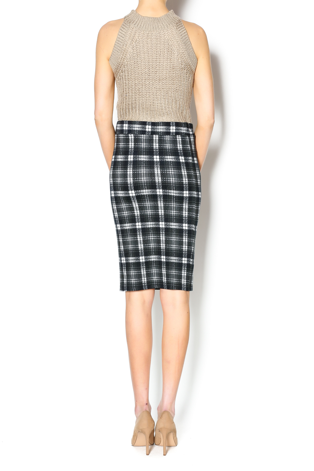 Bishop + Young Plaid Pencil Skirt - Side Cropped Image