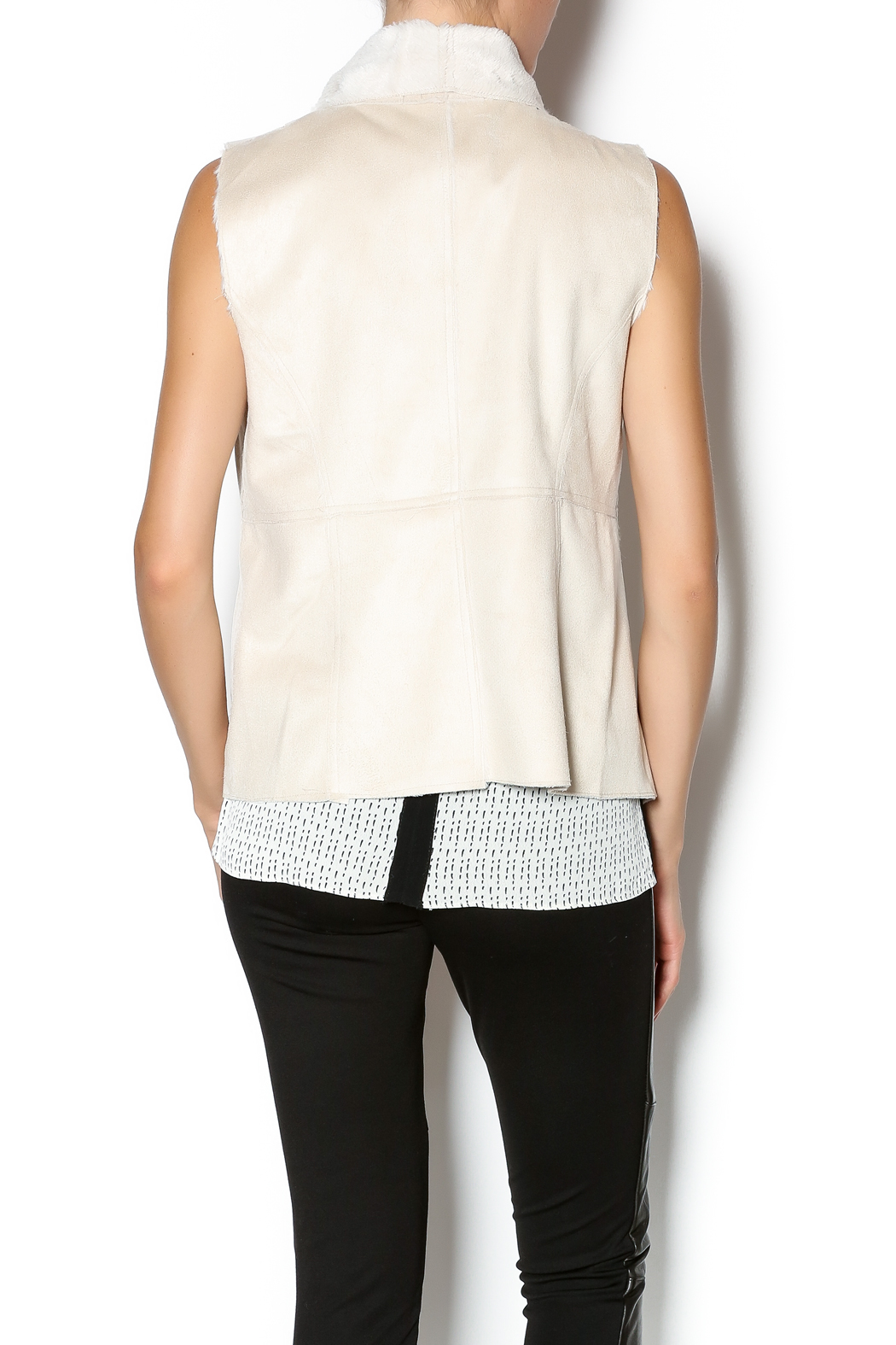 Bishop + Young Faux Suede Vest - Back Cropped Image