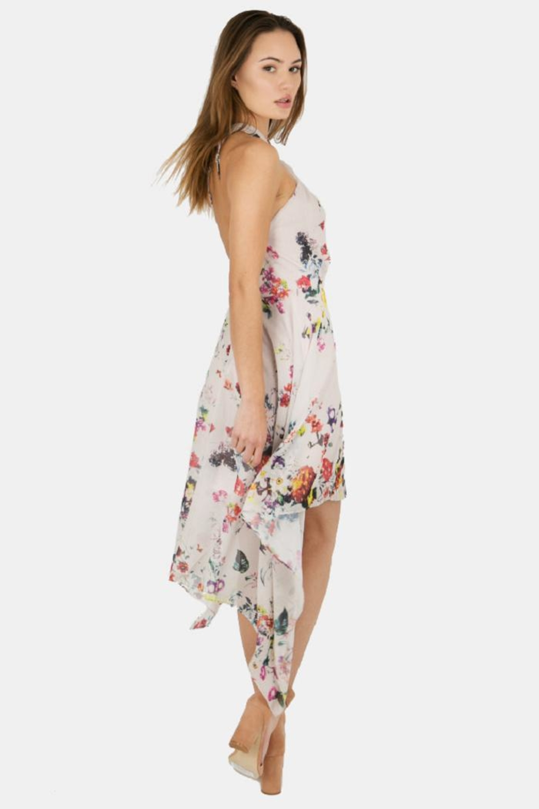 Bishop + Young Ana Floral Halter - Side Cropped Image