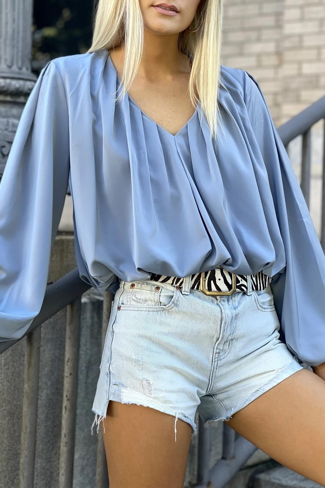 Bishop + Young Boho Bubble-Sleeve Top - Back Cropped Image