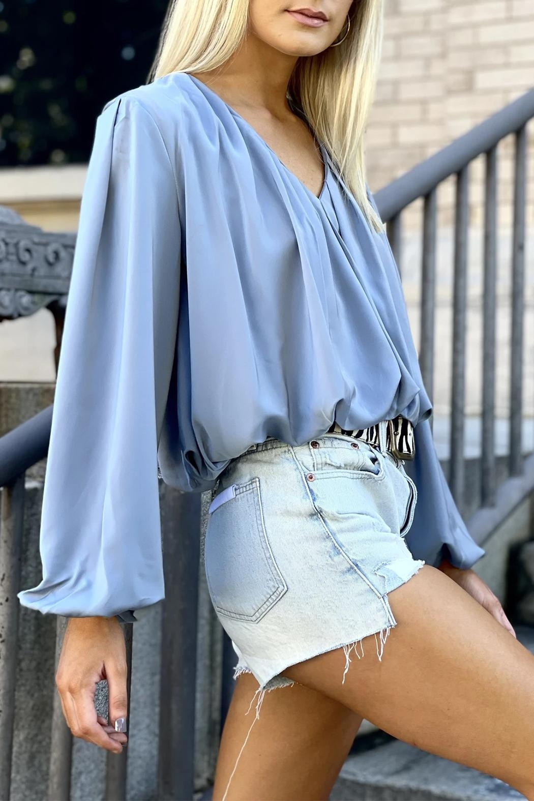 Bishop + Young Boho Bubble-Sleeve Top - Front Full Image