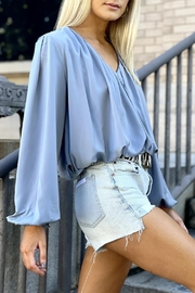 Bishop + Young Boho Bubble-Sleeve Top - Front full body