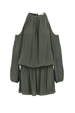 Shoptiques Product: Green Cold Shoulder Dress