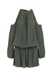 Bishop + Young Green Cold Shoulder Dress - Product Mini Image