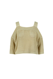Bishop + Young Cold Shoulder Knit Sweater - Product Mini Image