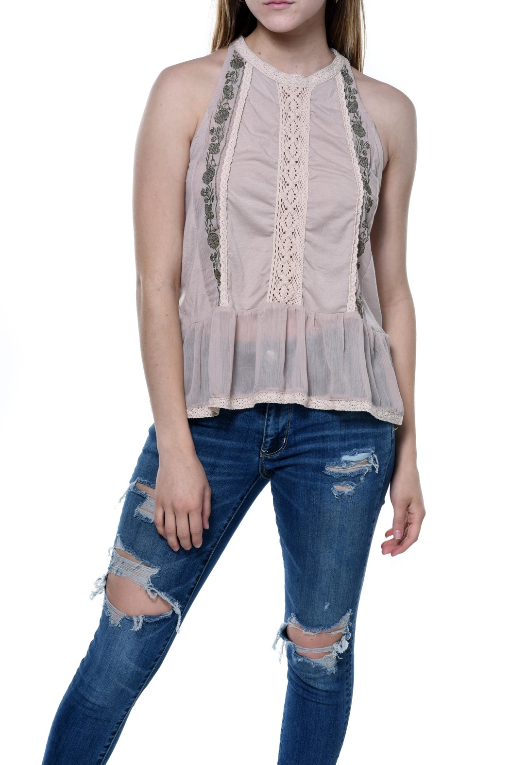 Bishop + Young Daniela Embroidered Sleeveless Blouse - Main Image