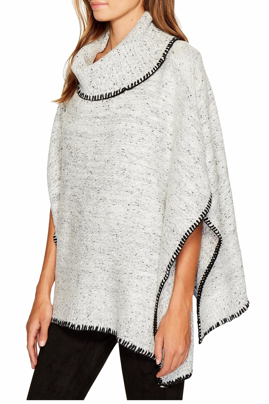 Bishop + Young Dolman Speckled Poncho - Front Full Image