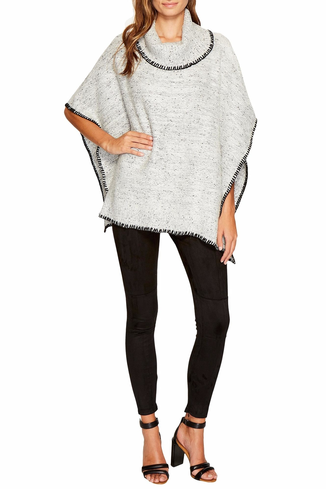 Bishop + Young Dolman Speckled Poncho - Side Cropped Image