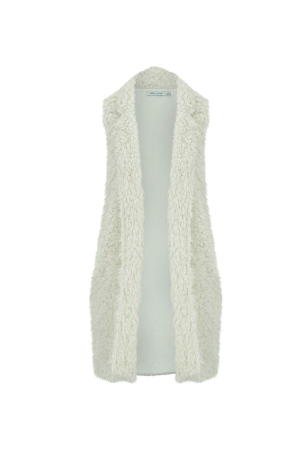 Bishop + Young Faux-Fur Fringe Vest - Front Cropped Image