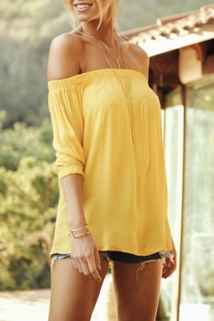 Shoptiques Product: Karlee Yellow Top